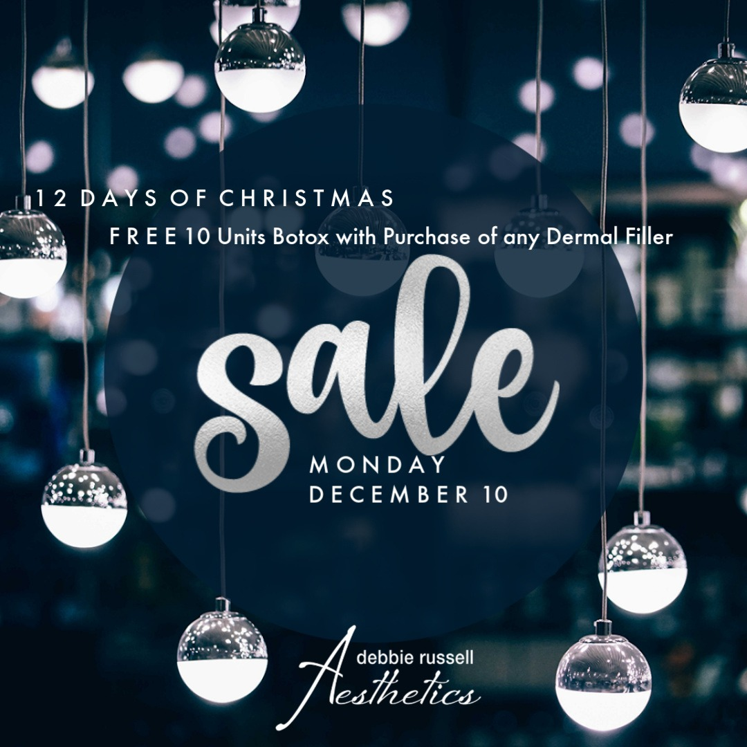 12 Days of Christmas: Monday December 10 - Free 10 Units Botox with Purchase of Any Dermal Filer