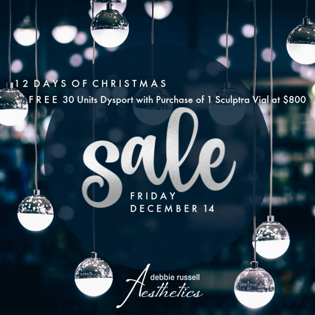 12 Days of Christmas: Friday December 14 - FREE 30 Units Dysport with Purchase of 1 Sculptra Vial at $800