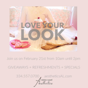 February 21st: Love Your Look Event. Giveaways, Refreshments, and Specials