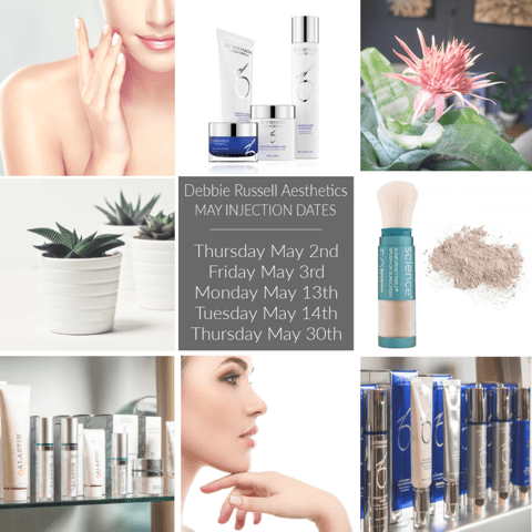 May 2019 Debbie Russell Aesthetics Injection Days